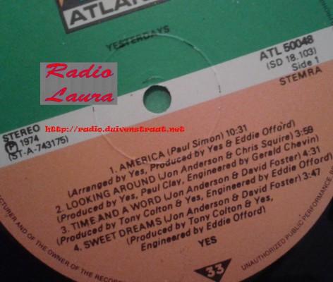 RONALD VAN CUILENBORG - RADIO LAURA (YES)